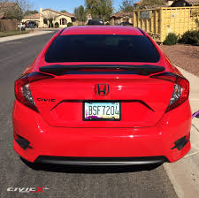 honda civic modified more black is better modified 2016 civic in rallye red with black