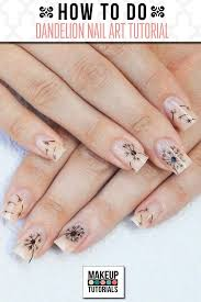 how to do dandelion nails nail art tutorial