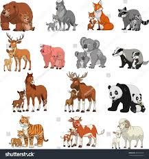 exotic animals vector illustration set funny exotic animals stock vector