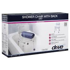drive shower chair with back grey meijer com