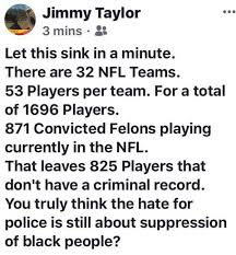 Me Me Me Me - fact check are 871 convicted felons currently playing for the nfl