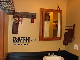primitive bathroom ideas wall decor office and bedroom