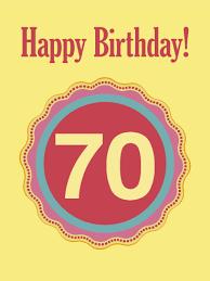 70th Birthday Cards 70th Birthday Card Birthday Greeting Cards By Davia