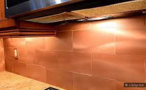 copper kitchen backsplash tiles copper color large subway backsplash idea kitchen