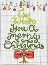 colorful merry christmas text present tree door hanger free
