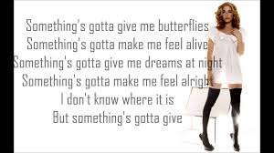 something gotta give leann rimes lyrics youtube