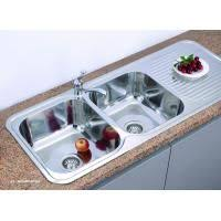 modern kitchen sink with drain boards and chrome faucet teka stainless steel double bowl kitchen sink with drain board 119