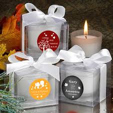 personalized candle favors autumn wedding candles personalized favors free assembly