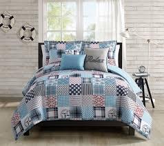 5 piece coastal patchwork reversible comforter set queen 10 jpg