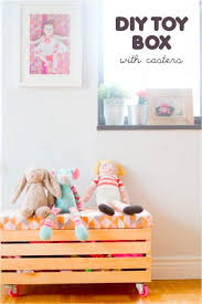 make your own toy box with casters