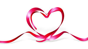 wedding ribbon satin ribbon forming shape of heart best for valentines day and