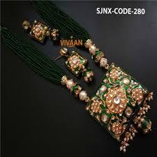 fashion design necklace images Fashion designer green necklace set for women jewellery jpg