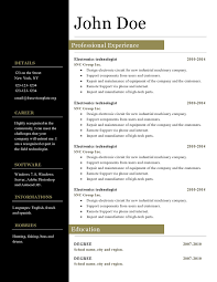 It Resume Template Download Open Office Resume Templates Free Download Resume Template And