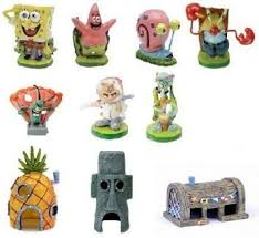 amazon com spongebob 10 piece aquarium decorative set aquarium