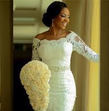 2017 lace mermaid wedding dresses half long sleeves off the