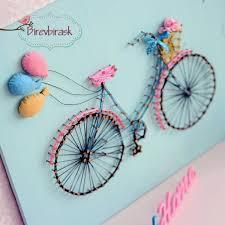 arte de la cadena de bicicleta colgante de pared bicicleta