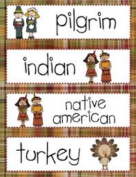 thanksgiving vocabulary cards for word wall by ortiz tpt