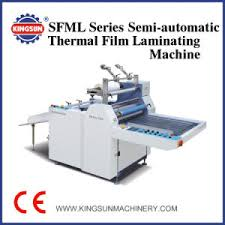 film semi series china sfml series semi automatic thermal film laminating machine