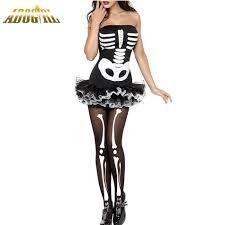 Halloween Costumes Skeleton Woman Online Get Cheap Skeleton Halloween Costume Women Aliexpress Com