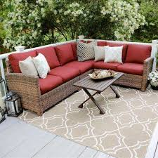 Outdoor Sofa Sectional Set Outdoor Sectionals Outdoor Lounge Furniture The Home Depot