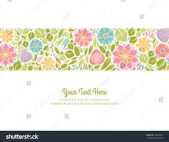 spring floral design horizontal stock vector 336084557 shutterstock