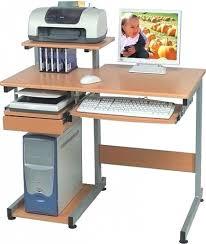 Glass Top Desk With Keyboard Tray Desk Computer With Printer Shelf Canada Regarding Modern