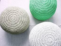 mint green pouf ottoman mint footstool crochet pouf mint green