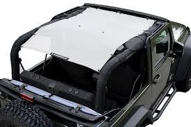 white jeep 2 door alien sunshade jkfb jeep wrangler 2 door jk mesh sun shade top