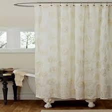 Lush Shower Curtains Lush Decor Shower Curtain 72 X 72 Ivory