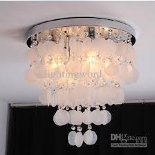 shell ceiling light discount shining white shell creative ceiling light bedroom dining