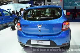 renault sandero stepway 2016 2016 dacia sandero stepway with easy r amt rear quarter at the iaa