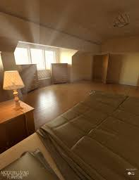 modern living attic bedroom furniture 3d models and 3d software