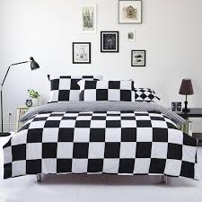 Black And White Damask Duvet Cover Queen Black And White Bed Set Home Textile Black And White Grid Duvet