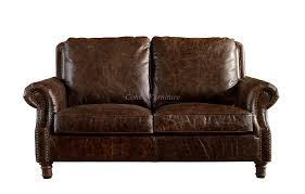 tan brown leather sofa europe vintage style dark brown leather loveseat two seater real