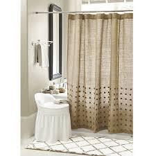Burlap Shower Curtains Bamboo Trellis Bath Mat And Burlap Shower Curtain For The Home