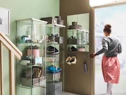 All Glass Display Cabinets Home Detolf Glass Door Cabinet White 43x163 Cm Display Cabinets