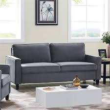 home decor solutions silverton lifestyle solutions silverton sofa in gray lk glms3xm3011