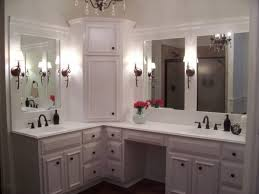 Oil Rubbed Bronze Bathroom Mirror by Corner Bathroom Vanity Cabinet With Integrated Marble Sink Using