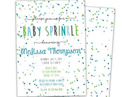 sprinkle baby shower confetti aqua and green baby sprinkle baby shower invitation