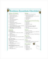 newborn baby necessities essential baby registry checklist 7 pdf documents