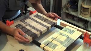 Cutting Board Designer Maple And Walnut End Grain Cutting Boards Youtube