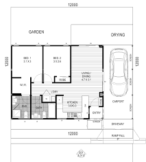 two bedroom one story house plans