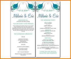 wedding program templates word free wedding program templates word authorization letter pdf