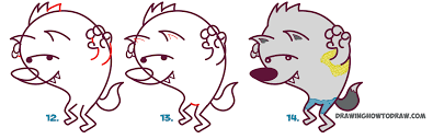 Cute Halloween Pictures To Draw How To Draw A Cute Cartooon Werewolf For Halloween Easy Step By
