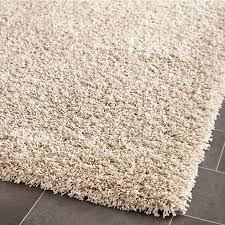 shop safavieh shag beige rectangular indoor machine made area rug
