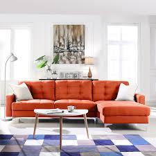 sofa l shape amazon com modern large linen fabric sectional sofa l shape