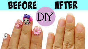 nail art how toe off acrylic nails your at home yourself fast and