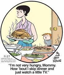 thanksgiving dinner comic tags family circus