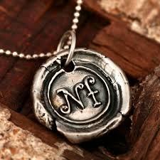 monogram pendant buy a custom silver monogram pendant made to order from