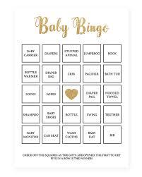 printable baby bingo cards popular baby shower game cards
